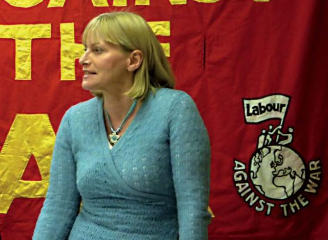 Christine Shawcroft at Labour against the War